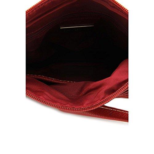 Giani Bernini Pebble Womens Red Purse Leather Messenger