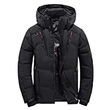 Hanican Men Boys Casual Coat Winter Warm Hooded Thicken Down Jacket Plus Velvet Zipper Outwear