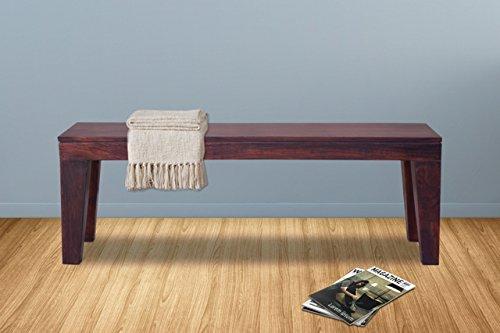 Furniselan Sheesham Solid Wood Bench in Mahogany Finish