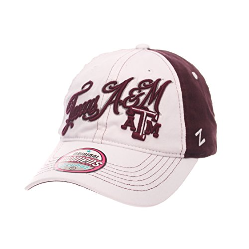 ZHATS NCAA Texas A&M Aggies Adult Women Vogue Women's Relaxed Hat, Adjustable, White/Team ()