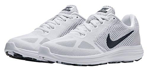 Nike Women's Revolution 3 Running Shoes White/Black-Wolf Grey 8.5 (Womens White Nikes Shoes)