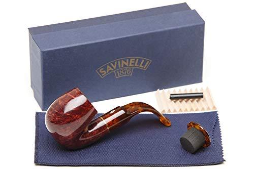 Savinelli Italian Tobacco Smoking Pipes, Tortuga Smooth -