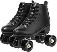 XUDREZ Classic Roller Skates High-Top Double-Row Leather Roller Skates for Women and Men