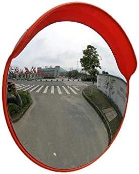 Geng カーブミラー 凸面鏡80センチメートル道セキュリティ監視ブラインドスポットミラー、耐久性のあるプラスチック製の広角レンズ
