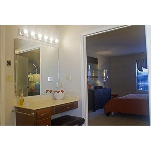 Design House 519314 6 Light Vanity Light, Satin Nickel free shipping