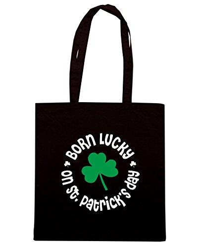 T-Shirtshock - Bolsa para la compra TIR0203 st patricks day birthday dark tshirt Negro