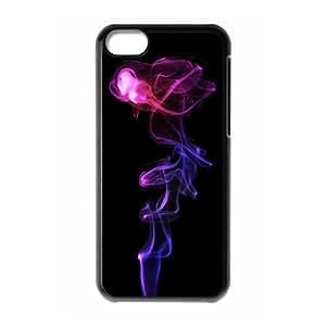 Purple Smoke iPhone 5c Cell Phone Case Black phone component AU_625094