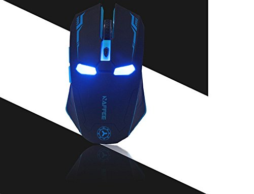 Wireless Adjustable Mute Button Silent Click Gaming Mouse (Black) - 5