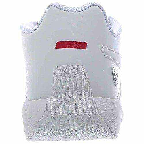 Puma Hommes Ferrari Podio Td Sf Sans Lune Blanc-blanc Blanc-blanc