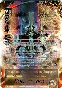 - Force of Will - (X1) Card- Machina, the Machine Lord/the Mechanical Emperor - SKL-087J -(Full Art) R--the Seven Kings of the Lands