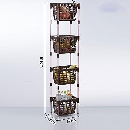 Kitchen shelf. CGN Cesta de almacenamiento de plástico para cocina ...