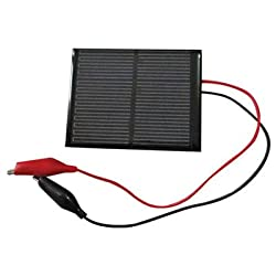 6 Volts 150mA Solar Panel with Alligator Clip Leads