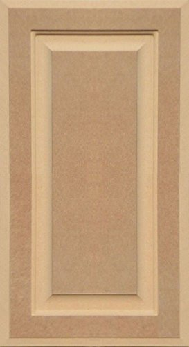 Unfinished MDF Cabinet Door, Square with Raised Panel by Kendor, 22H x 12W (Flat Panel Cabinet Doors)