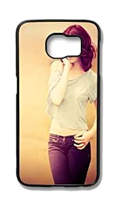 Samsung Galaxy S6 Edge Customized Unique Hard Black Case Brown Hair Jeans Pose Photography Case S6 Edge Cover PC Case