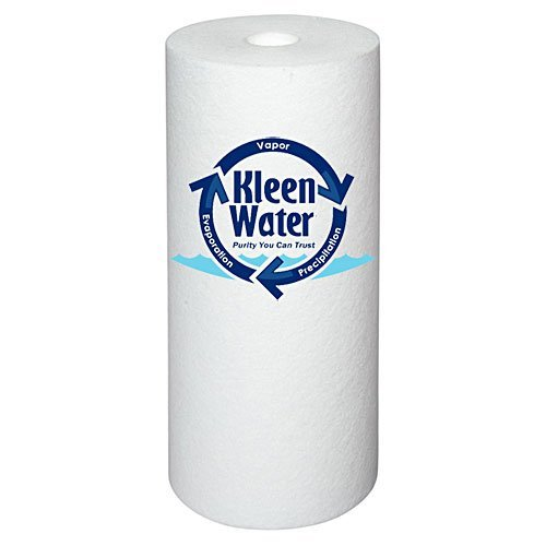 KleenWater KW4510G-20M Dirt Rust Sediment Filter, 20 Micron, Whole House Water Filter Replacement Cartridge