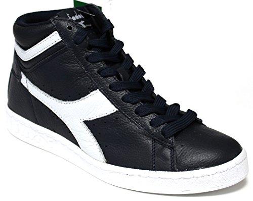 Diadora Sneakers Uomo - Jeu L High Waxed - 159657-c3635 - Bleu Mer Caspienne / Blanc-46