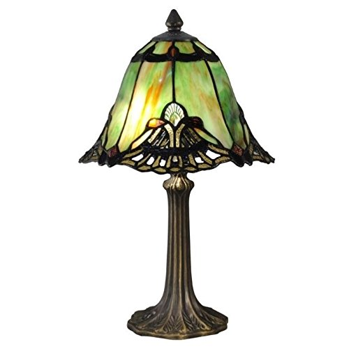 Dale Tiffany TA15057 Green Haiawa Tiffany Accent Table Lamp Antique ()