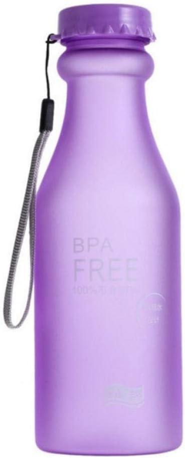 pptingBotella de Agua portátil irrompible Helado Helado a Prueba de Agua Caldera púrpura 550 ml portátil para Viajes de Yoga Que acampa Corriendo