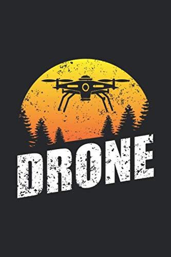Drone: Drohnenpilot Fernbedienung Flieger  Notizbuch liniert DIN A5 - 120 Seiten für Notizen, Zeichnungen, Formeln   Organizer Schreibheft Planer Tagebuch (Weibliche Flieger)