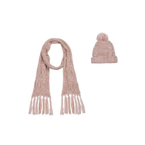 Ventanas y color de rosa de la princesa Mononoke hacer un gorro y bufanda del equipo de fútbol rosa Talla:10-12 Year