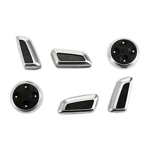 (Mtsooning 6Pcs Chrome Car Seat Adjustment Switch Control Adjuster)