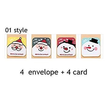 Amazon Com Greeting Cards 4pc Set Creative Diy Gift Decoration