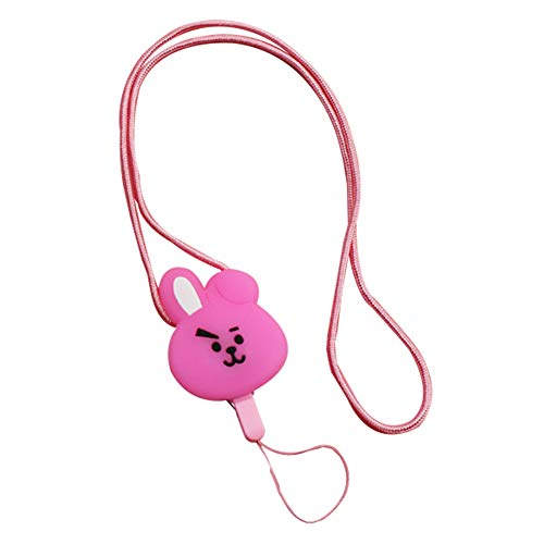 Youyouchard BTS Glowing Phone Neck Strap Lanyard ID Holder Neck Lanyard Necklace Neck Band, Keychain Whistles Strap for iPhone ID Badge Holder(Cooky) (Neck Strap Lanyard Flashing)
