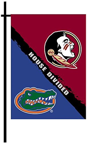 House Rivalry Ncaa (NCAA Florida Gators Rivalry House Divided 2-Sided Garden Flag, One Size, Team Color)