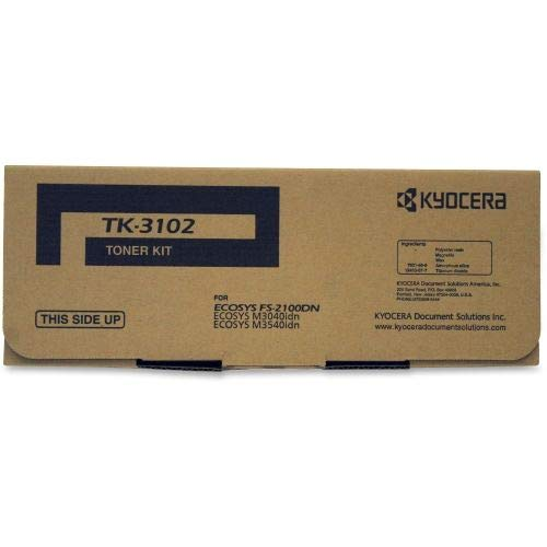 (Kyocera 1T02MS0US0 Model TK-3102 Toner Cartridge For use with Kyocera ECOSYS M3040idn, ECOSYS M3540idn and FS-2100DN Black and White Printers, Up to 12500 Pages, Black )