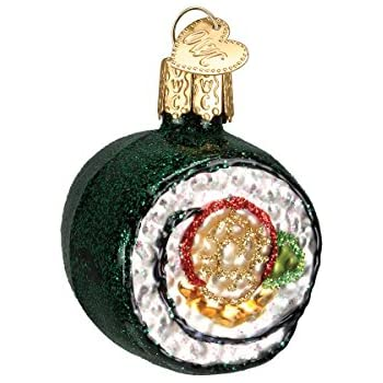 amazon com sushi roll glass blown hanging christmas ornament home