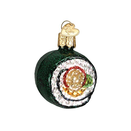 - Old World Christmas Ornaments: Sushi Roll Glass Blown Ornaments for Christmas Tree (32110)