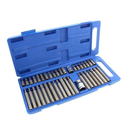 40 Piece Socket Tool (ABN Combination Hex, Torx, and XZN Socket Bit Set – 40 Piece Hexagonal, Star Drive, Triple Square Socket Set)