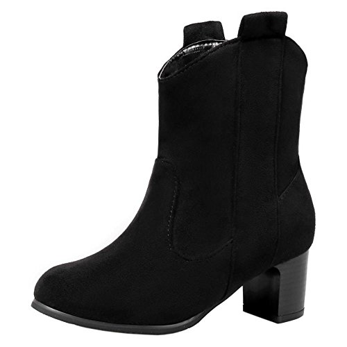 Fashion Booties Short Boots TAOFFEN Black Women Pull On RFpqw