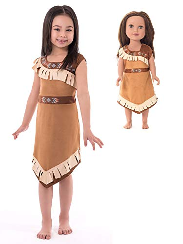 Little Adventures Native American Princess Dress Up Costume & Matching Doll Dress (Large Age 5-7) for $<!--$44.99-->