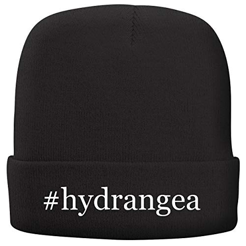 BH Cool Designs #Hydrangea - Adult Hashtag Comfortable Fleece Lined Beanie, Black