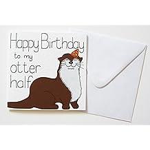 Happy Birthday to my Otter Half Birthday card