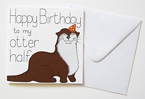 Amazon happy birthday to my otter half birthday card handmade happy birthday to my otter half birthday card bookmarktalkfo Image collections
