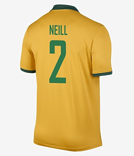桁ブリード想像するNIKE NEILL #2 Australia Home Jersey 2014-15/サッカーユニフォーム オーストラリア ホーム用 背番号2 ニール