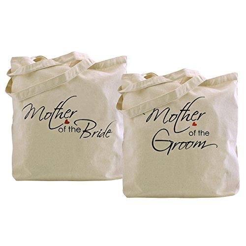(ElegantPark Mother of the Bride+Groom Tote Bag Wedding Gifts 100% Cotton 2)