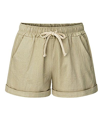 Basic Pantaloncini Mengmiao Cachi Shorts Donna Donna Elasticizzati Shorts Pantaloncini Arricciate wqvIqzr8