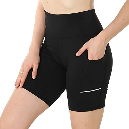 FEIVO Yoga Pants, Women's Power Flex Yoga Short Tummy Control Workout Yoga Shorts