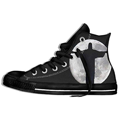 Classiche Sneakers Alte Scarpe Di Tela Anti-skid Dio Casual Da Passeggio Per Uomo Donna Nero