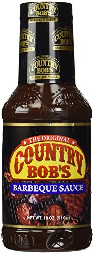 Country Bob's Barbeque Sauce, 18 Ounce Bottle (Pack of 6)