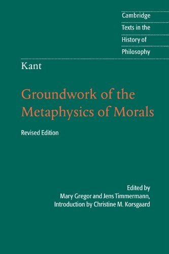 [Kant: Groundwork of the Metaphysics of Morals (Cambridge Texts in the History of Philosophy)] [Author: x] [April, 2012] (Kant Groundwork Of The Metaphysics Of Morals Text)