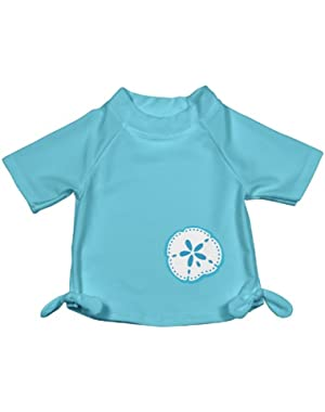 Baby Toddler Girls UPF 50+ Tie Butterfly Rashguard Swim Shirt!