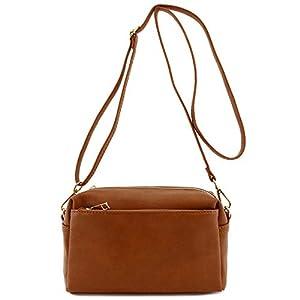 Triple Zip Small Crossbody Bag 16