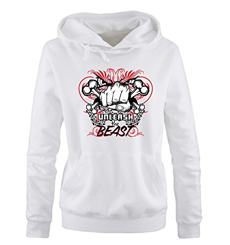 The The Comedy Comedy Comedy bianco S XL Shirts Colors bianco Taglia rosso nero Donna Hoodie Unleash Different Cappuccio Beast Sweater rOEfqrHwU