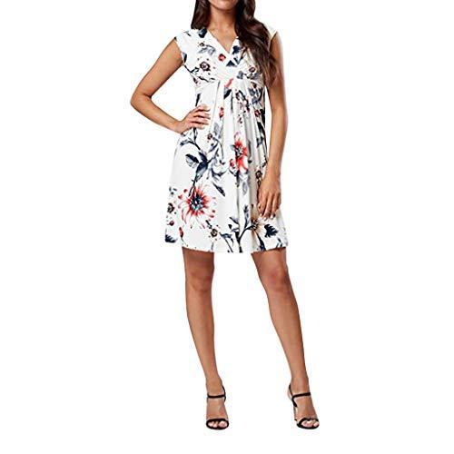 Maternity Dresses for Women Stylish Sleeveless Off Shoulder Pregnant Dress Flower Nursing Pregnancy Casual Dresses White