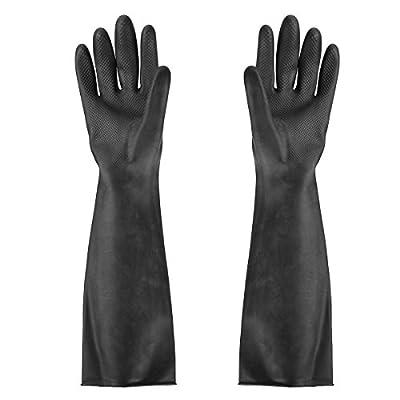 "SummerHome Heavy Duty Rubber Work Gloves,Resist Acid, Alkali,23.5"", 1 Pair"
