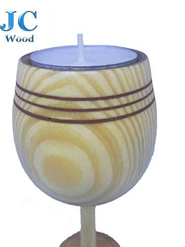 Candelabro Portavelas en madera para decoracion de centro de mesa JCWood